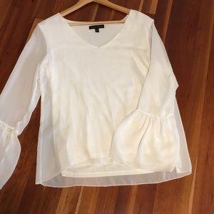Banana republic cream blouse size medium
